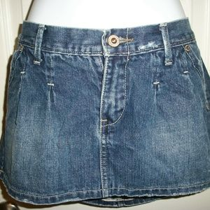 HOLLISTER Dark Denim Mini Straight Skirt Size 7